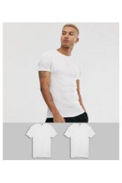 G-Star Organic - Schmal geschnittene weiße T-Shirts aus Baumwolle im 2er-Pack(93798162)