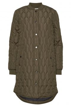 Kashally Quilted Coat Steppjacke Grün KAFFE(114157445)