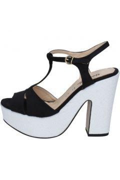 Sandales Geneve Shoes sandales noir daim blanc BZ897(115399070)