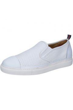 Chaussures Brimarts slip on blanc cuir BZ282(88470279)