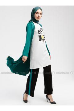 Green - Ecru - Multi - Unlined - Suit - Armine(110337345)