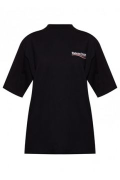 Balenciaga Kadın Siyah Logo Baskılı T-shirt XS EU(114439115)