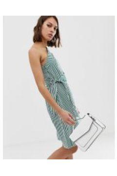 Unique21 - Gestreiftes Kleid mit One-Shoulder-Träger - Mehrfarbig(90531148)