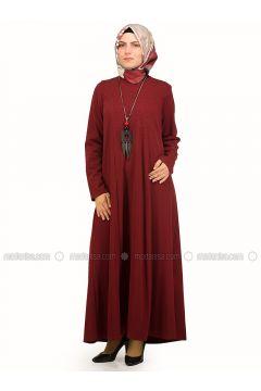 Maroon - Crew neck - Unlined - Dresses - NAKŞİN(110339535)