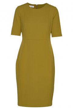 Dress Woven Fabric Kleid Knielang Gelb GERRY WEBER(114165023)