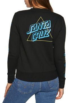 Sweat Femme Santa Cruz Not A Dot Outline Crew - Black(116605553)
