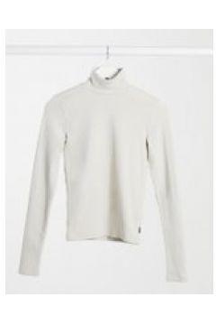 Dr Denim - Awa - T-shirt accollata a maniche lunghe crema-Beige(121761062)