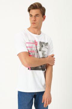 Only & Sons Baskılı Beyaz T-Shirt(123422105)