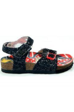 Gigi Mınnıe Mouse Kız Çocuk Siyah Pullu Sandalet(124973680)