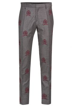 Hcm Suit Sep Pants Embroidery Anzughosen Businesshosen Grau HILFIGER COLLECTION(114153029)