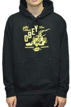 Sweat-shirt Obey WASTELAND BOX FIT FELPA CON CAPPUCCIO NERO(127934579)