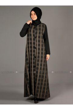 Gray - Multi - Unlined - Wool Blend - Acrylic - Topcoat - Henna Elısa(110320068)