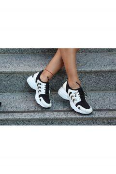 Dizzy Beyaz Likralı Rahat Sneaker Ayakkabı(119319303)