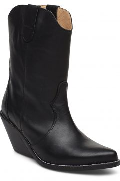 Livia Leather Black Shoes Boots Ankle Boots Ankle Boots With Heel Schwarz HENRY KOLE(114159970)