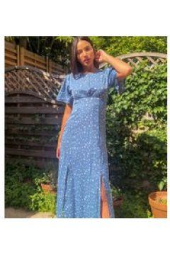 Missguided Tall - Vestito midi blu con maniche fluttuanti(120324889)