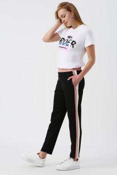 Koton Siyah Şerit Detaylı Pantolon(113983027)