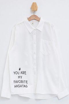 DeFacto Kız Çocuk Baskılı Uzun Kol Gömlek(125916996)