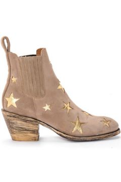 Boots Mexicana Bottine Texan modèle Circus en daim beige(101538356)