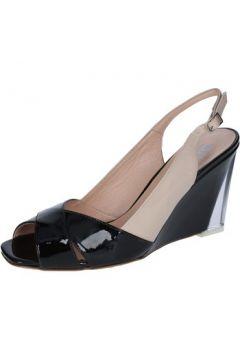 Sandales Wittchen sandales beige cuir verni noir BY88(88522594)