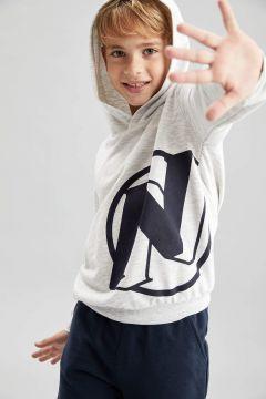DeFacto Erkek Çocuk Nerf Lisanslı Kapüşonlu Sweatshirt(125934379)