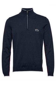 Ziston_w20 Knitwear Half Zip Jumpers Blau BOSS(114355534)
