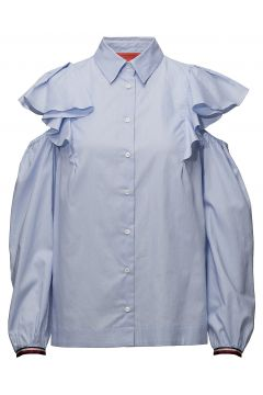 Feminine Shirt Ls Bluse Langärmlig Blau HILFIGER COLLECTION(114150566)