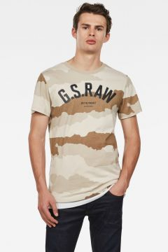 G-Star RAW Men Graphic 13 T-Shirt Beige(117926436)