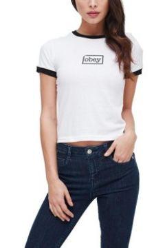 T-shirt Obey TYPEWRITER BIANCA(127934349)