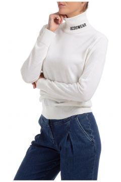 Women's jumper sweater turtle neck logo(123317325)
