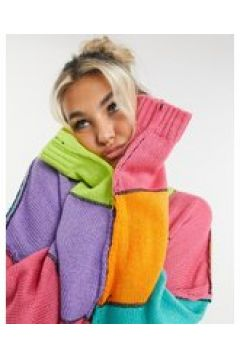 The Ragged Priest - Maglione oversize lavorato in maglia con patchwork-Multicolore(122917456)