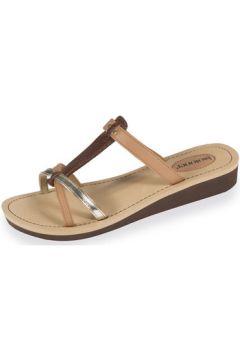 Sandales Isotoner Tongs femme marron doré(88667272)