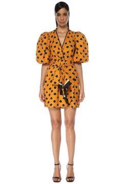 Johanna Ortiz Kadın Eccentric Words Hardal Puantiyeli Mini Elbise Sarı 6 US(119423009)