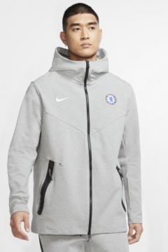 Chelsea FC Tech Pack Tam Boy Fermuarlı Erkek Kapüşonlu Üst(118345862)