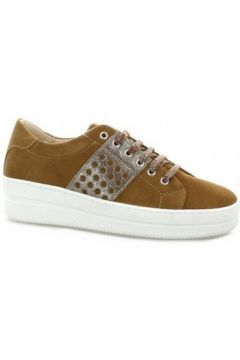 Chaussures So Send Baskets cuir velours(115612596)