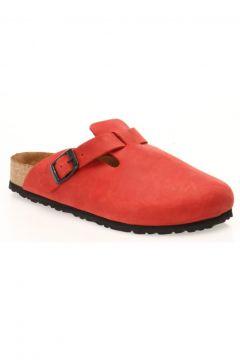 Comfortfüsse Erkek Kırmızı Hakiki Deri Mantar Tabanlı Terlik(119319365)