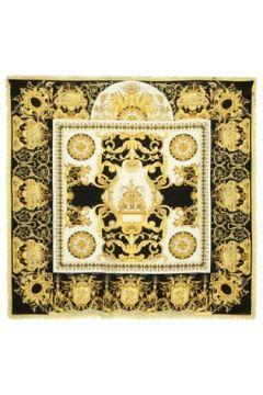 Versace Kadın Sarı Siyah Desenli Yün Şal EU(121159610)