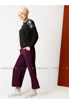 Purple - Cotton - Pants - Meryem Acar(110327082)