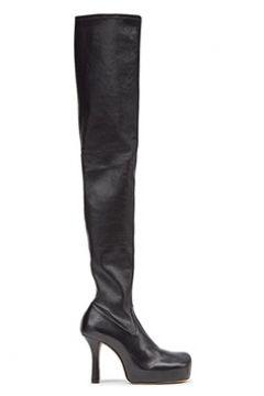 Bottega Veneta Kadın BV Siyah Deri Çorap Formlu Çizme 36 EU(122167595)