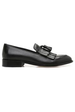 Beymen Collection Erkek Siyah Püskül Detaylı Kadın Deri Loafer 40 EU(122594072)