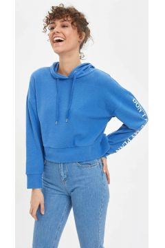 DeFacto Kadın Baskılı Kapüşonlu Sweatshirt(108988304)