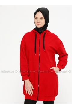 Red - Cotton - Tracksuit Top - Marwella(110332560)