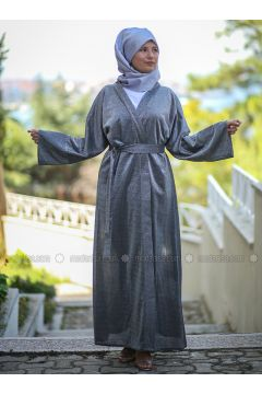 Black - Unlined - Abaya - AGONYA MODA(110314306)