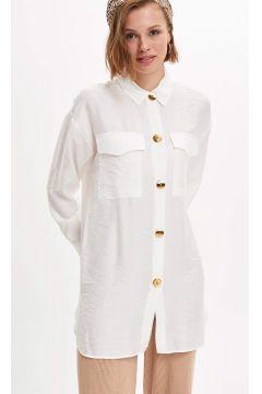 DeFacto Kadın Uzun Kollu Relax Fit Gömlek(119059189)
