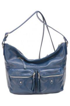 Sac Bandouliere Mocca Sac porté travers en cuir ref_ast43236 bleu(115487796)