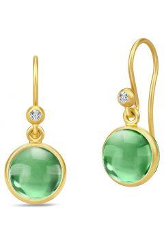 Primini Earrings - Gold/Green Ohrhänger Schmuck Grün JULIE SANDLAU(99020802)