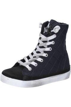 Baskets enfant 2 Stars sneakers noir textile daim AD887(115393789)