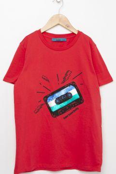 Funky Rocks Kırmızı T-Shirt(113994585)