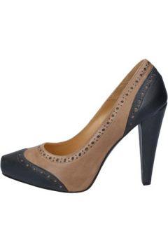 Chaussures escarpins Deimille escarpins marron cuir gris AM852(98485702)