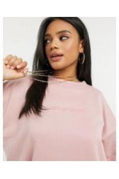 New Girl Order - Vestito maglia con logo tono su tono-Rosa(121435668)