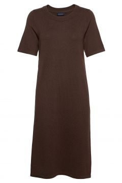 Amy Cotton/Bamboo Knitted Dress Kleid Knielang Braun LEXINGTON CLOTHING(121166563)